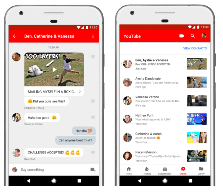 YouTube's in-app messaging and Community tab may make their