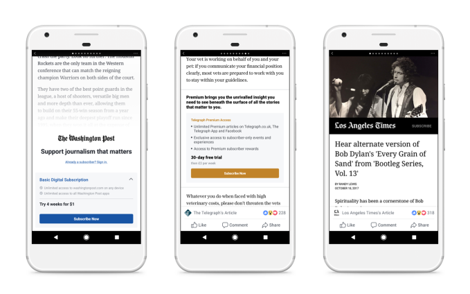 Facebook works it out with Apple to test news paywalls on iOS