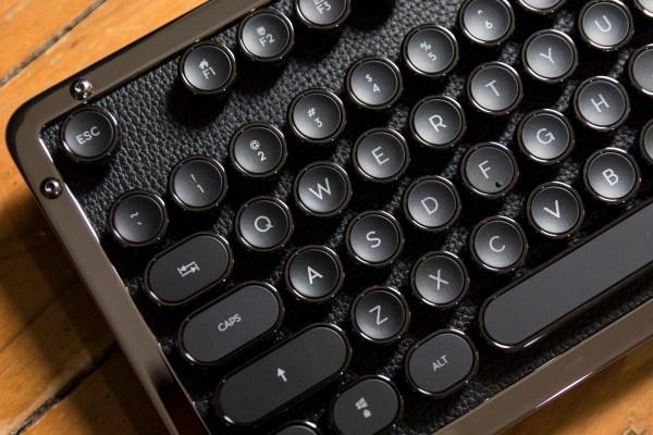 Azio's Retro Classic typewriter-inspired Bluetooth keyboard