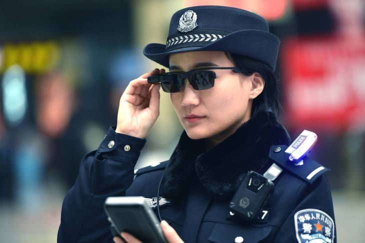 chinese police are using smart glasses to identify potential