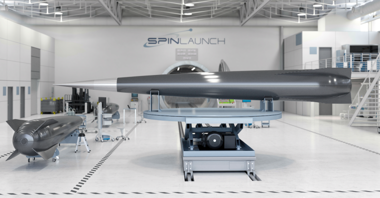 Spinlaunch hangar