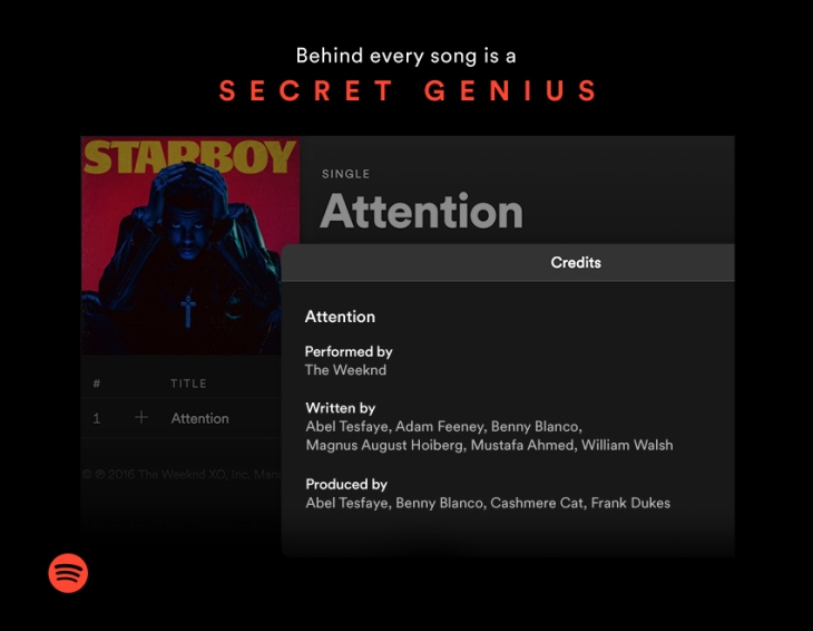 spotify debuts a new songwriter credits feature on desktop techcrunch