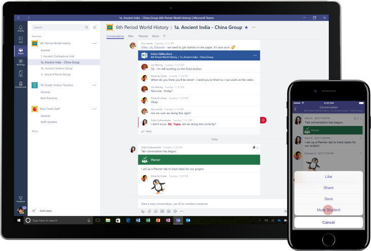Microsoft Teams will integrate with Cortana, add