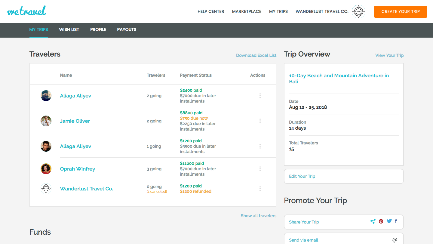 WeTravel builds a payment platform for small travel businesses