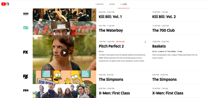 YouTube TV raises pricing, expands with Turner, NBA, MLB additions