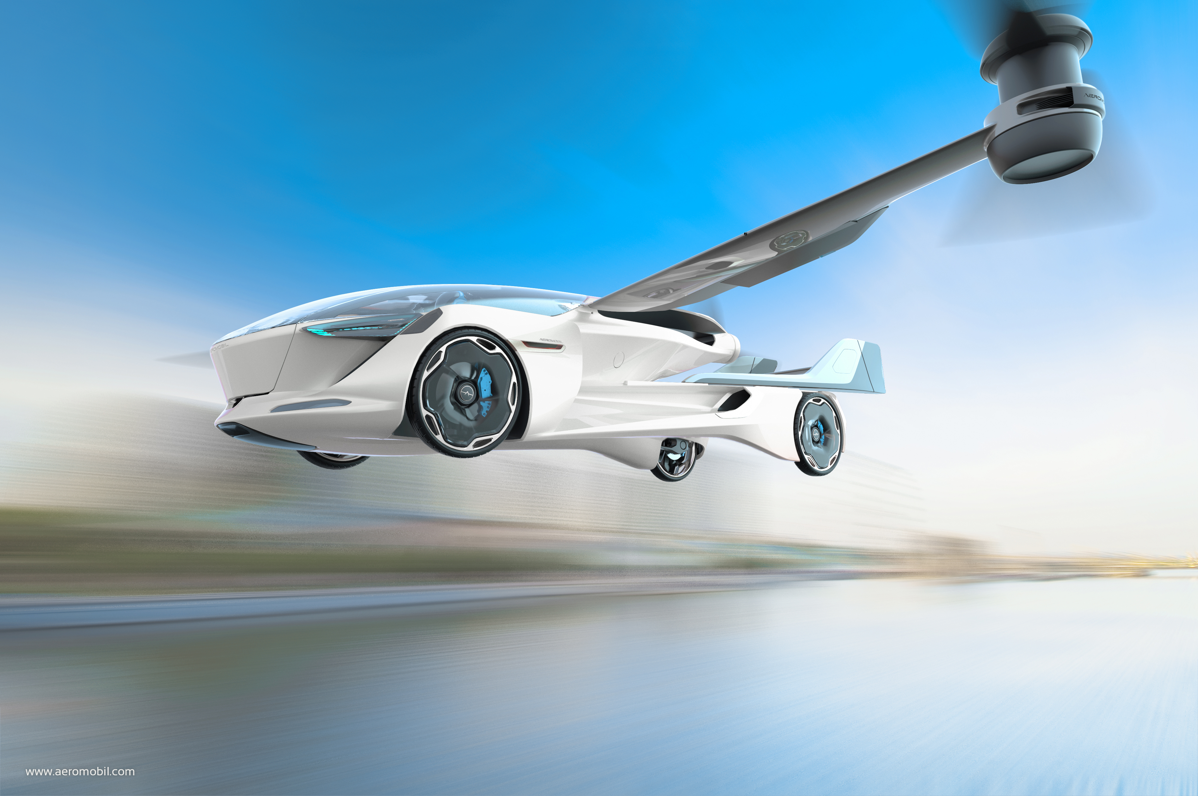 AeroMobil's new electric flying car concept is a sporty 4-seater