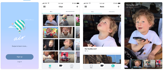 Air's app lets you record high-quality home movies without