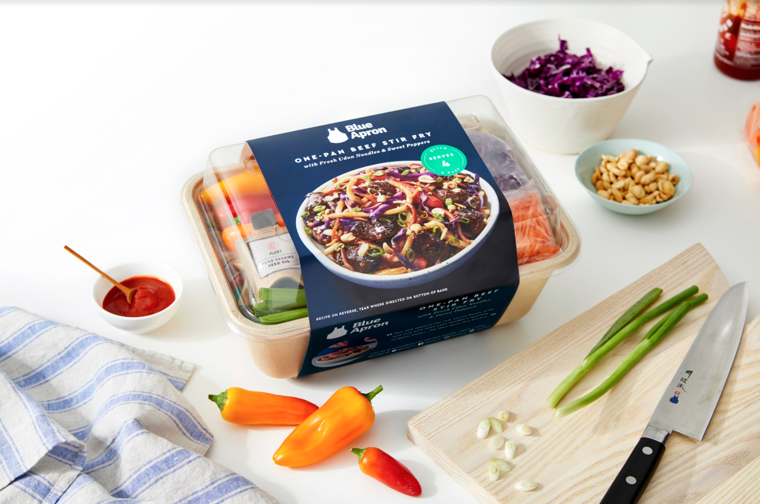 Blue Apron plans to start selling its meal kits in stores