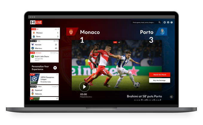 Turner's new sports streaming service, Bleacher Report Live