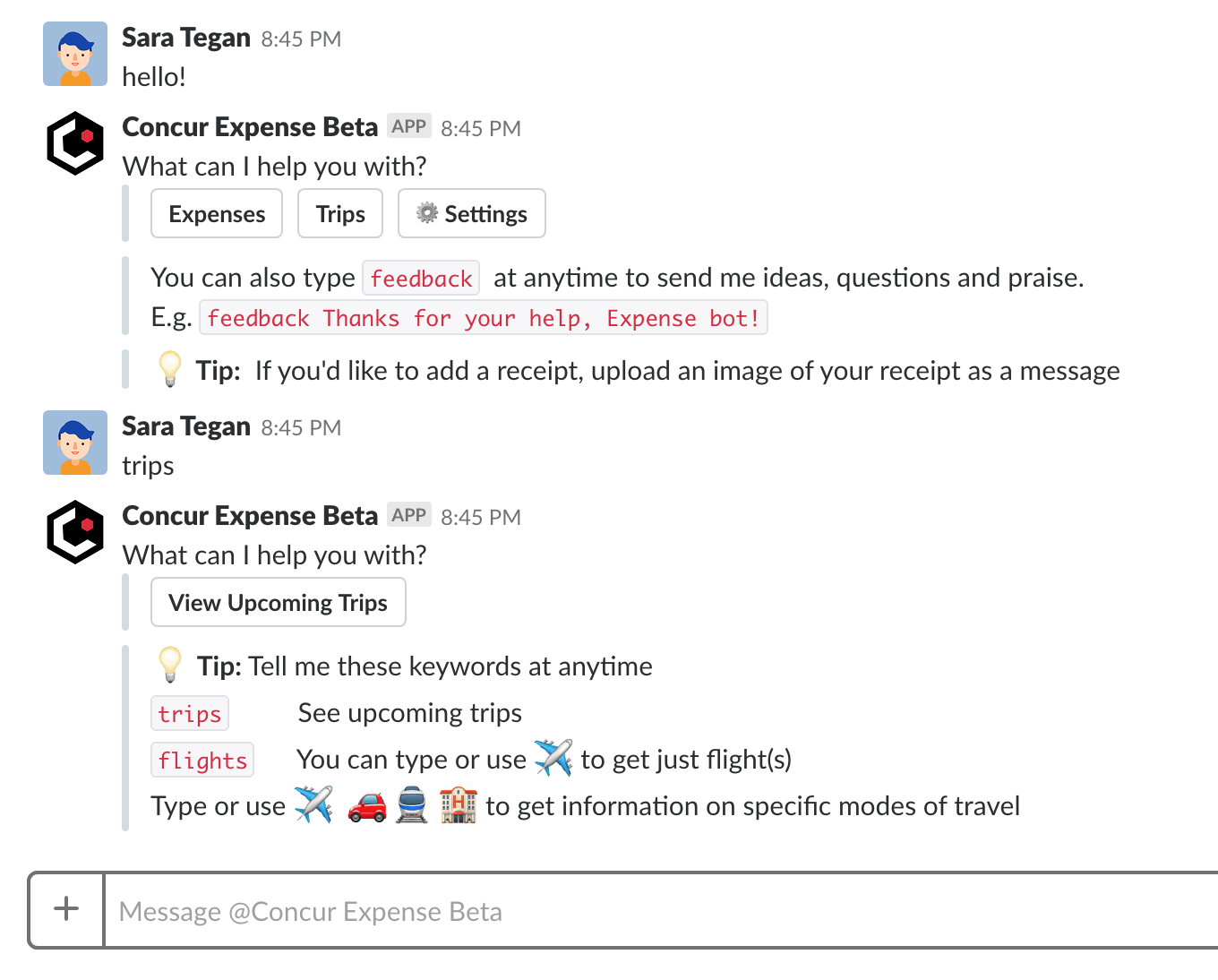 Concur Labs wants to help you do your expenses in Slack