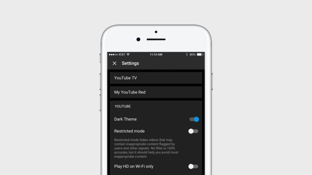 YouTube's mobile app gets a dark mode | TechCrunch