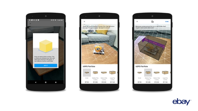 eBay's new AR tool helps sellers find the right box for