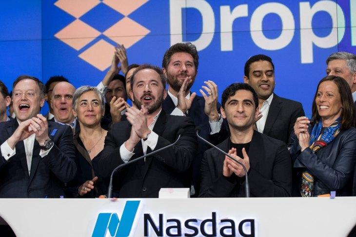Hasil gambar untuk Dropbox starts trading