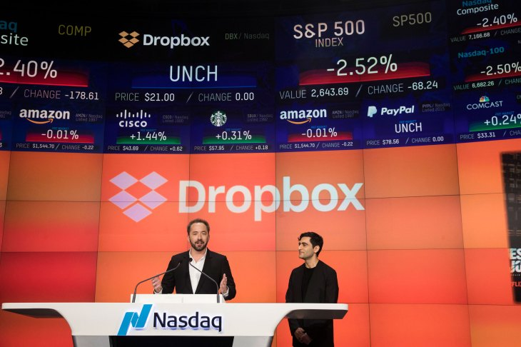 Dropbox finishes up 36% on first day of trading   TechCrunch