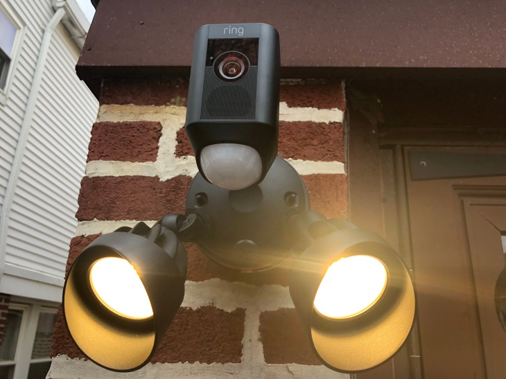 Flood Light Security Camera Impressive The Ring Floodlight Cam Is An Outdoor Security Slam Dunk TechCrunch