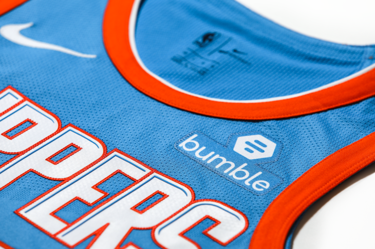 best loved 9c28e b4366 Bumble is becoming the LA Clippers' jersey sponsor | TechCrunch