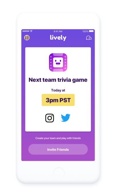 Zoosk relaunches dating app Lively as a way to meet new people while playing trivia games
