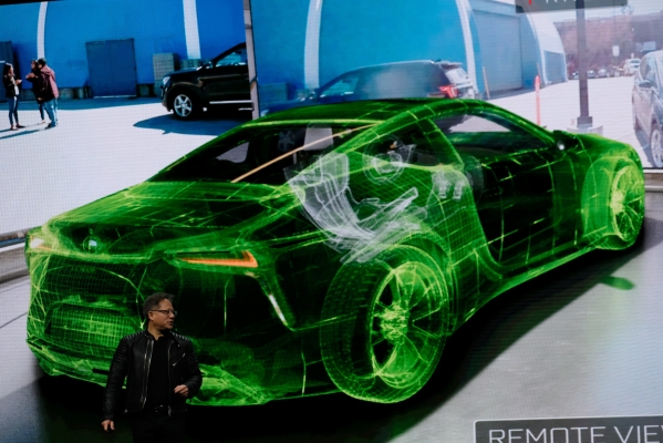 Nvidia stuns by driving a automotive in actual life by way of digital actuality 1