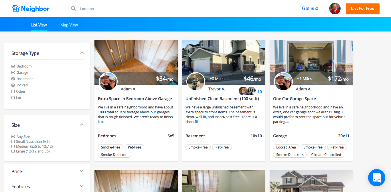 Neighbor, a p2p self-storage marketplace, bags $2.5M seed