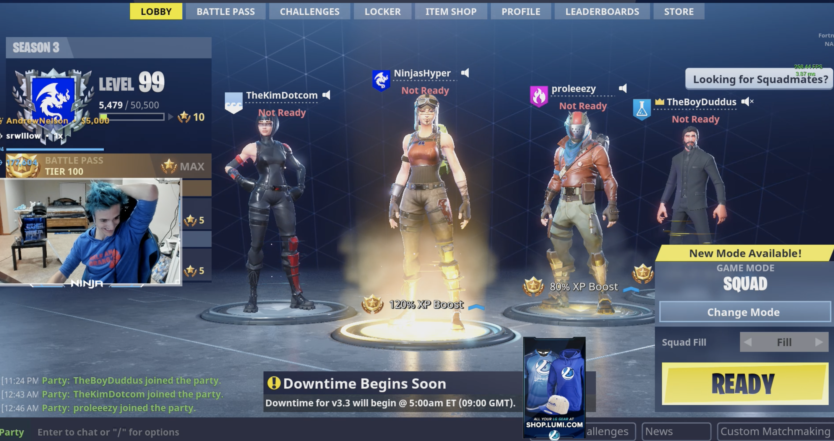 Drake and Ninja are playing Fortnite live on Twitch