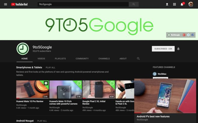 YouTube is testing a picture-in-picture mode on the desktop