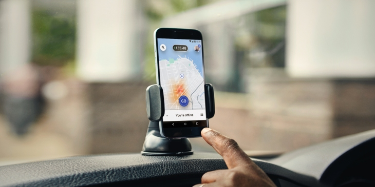 Uber's new driver app identifies areas with the best fares