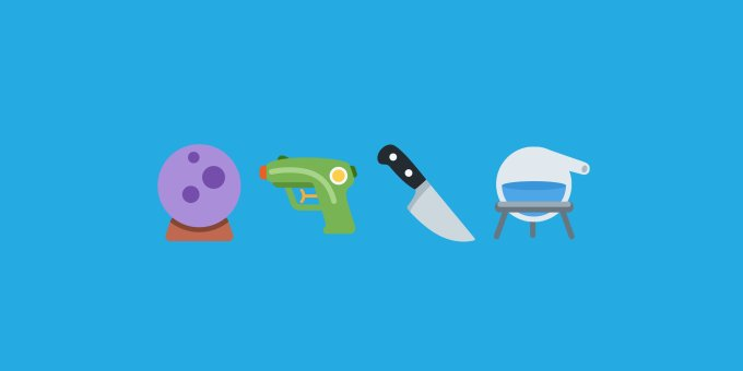 Twitter replaces its gun emoji with a water gun emojipedia twemoji 2 6 emoji update header