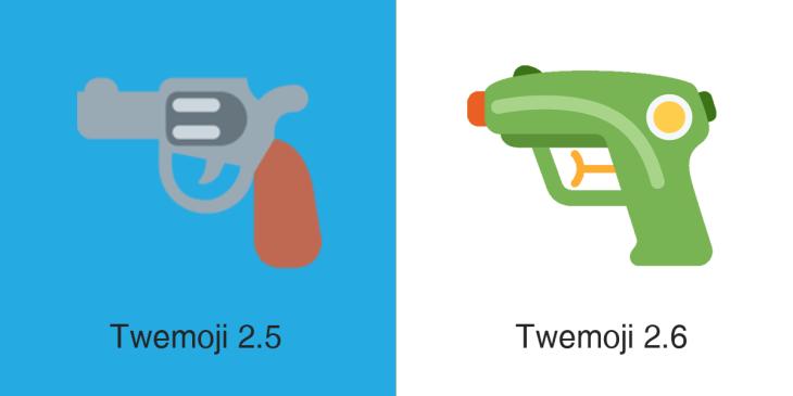 Twitter replaces its gun emoji with a water gun | TechCrunch