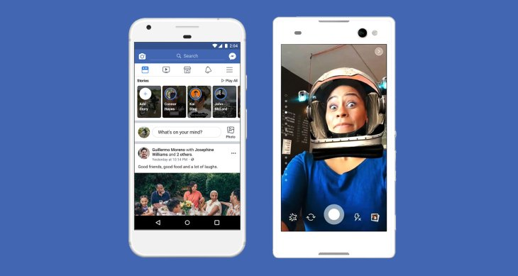 3 tests show Facebook is determined to make Stories the