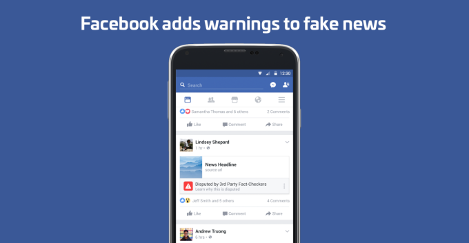 Facebook shrinks fake news after warnings backfire fb fake news1 1