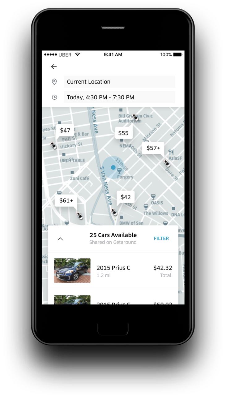 Uber gets into car rentals and public transit