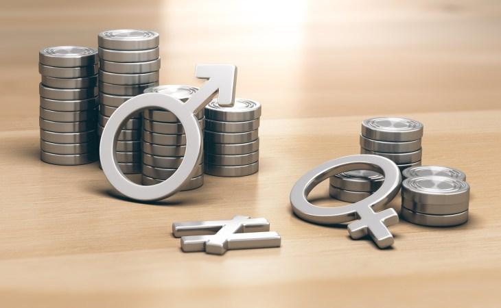Feminism concept. Gender Pay Gap for Work of Equal Value