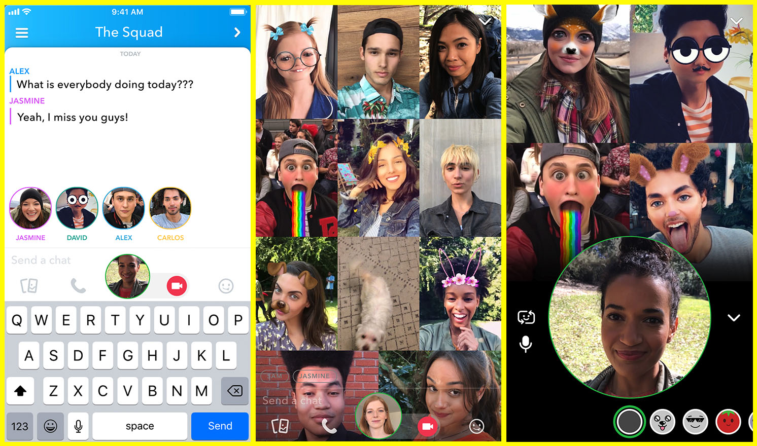 Snap introduces group video calls for up to 16 people | TechCrunch