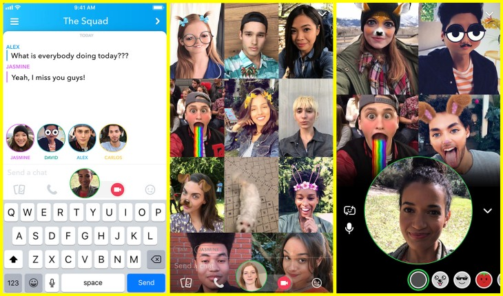Snap introduces group video calls for up to 16 people