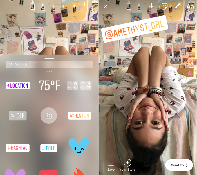 instagram mentions stickers - Instagram rolls out Focus portrait mode for videos and photos – TechCrunch