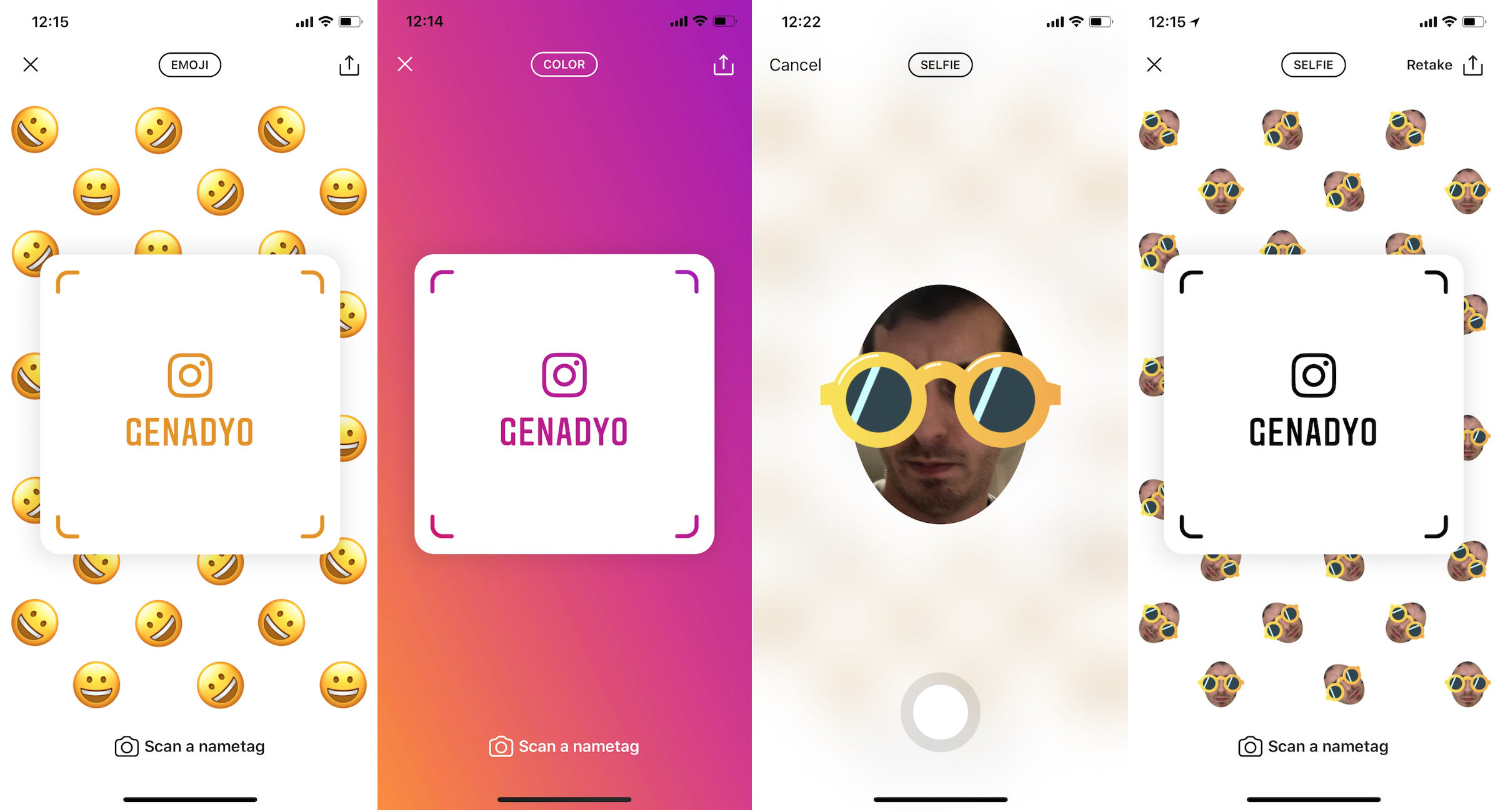 You could soon follow Instagrammers by scanning their Nametag
