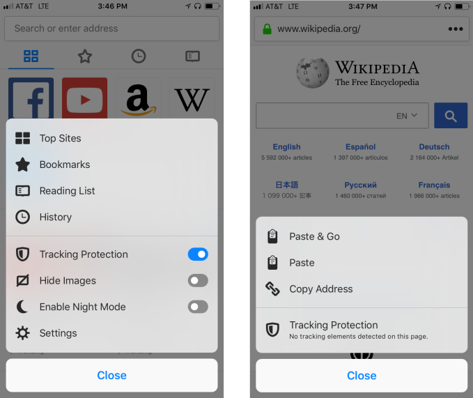 Firefox updates its iOS web browser to turn Tracking Protection on by default