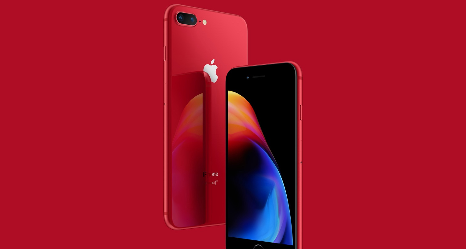 apple releases a red iphone 8 techcrunch. Black Bedroom Furniture Sets. Home Design Ideas