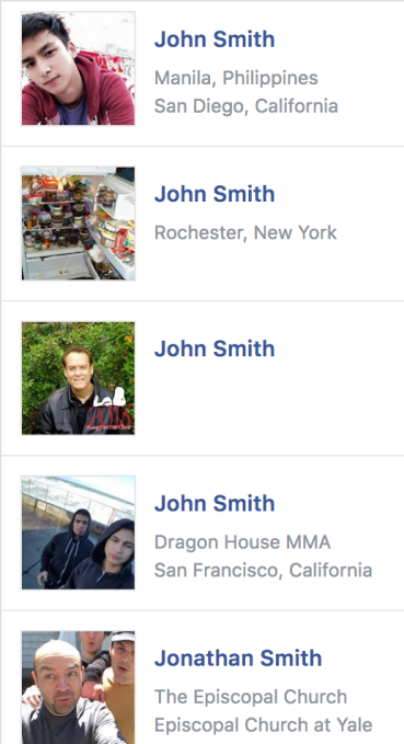 john smith - Facebook shouldn't block you from finding friends on competitors – TechCrunch