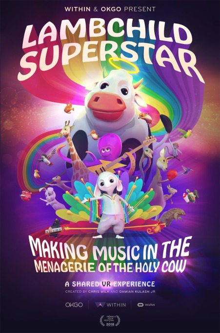 Lambchild Superstar  This year's Tribeca Film Festival uses AR and VR to explore music-making and empathy lambchildsuperstar poster