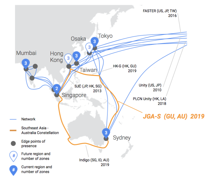Google's latest undersea cable project will connect Japan to Australia