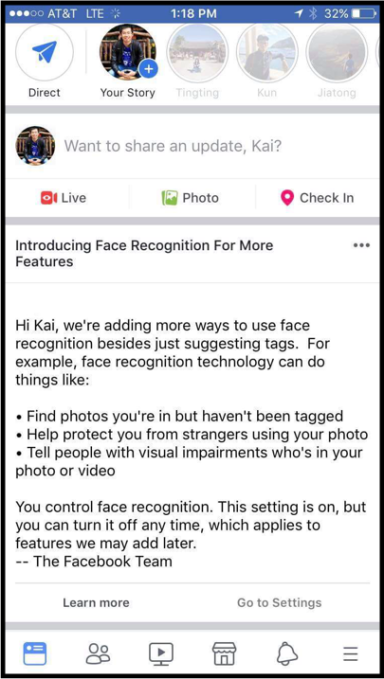 Facebook face recognition error looks awkward ahead of GDPR