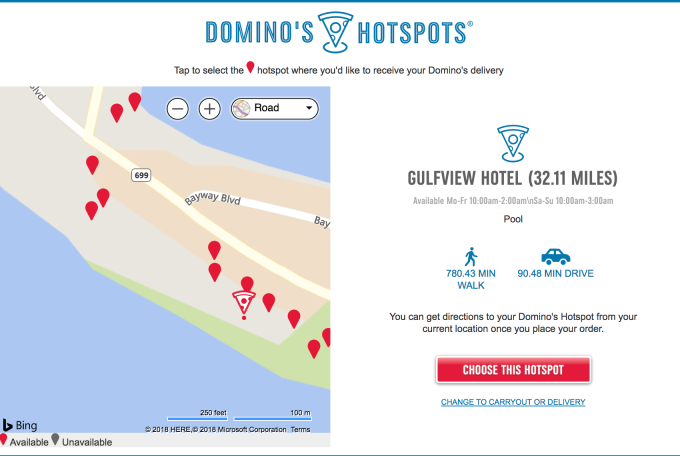 photo image Domino's will now deliver to 150,000 parks, pools and other non-traditional locations