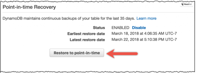 AWS adds automated point-in-time recovery to DynamoDB