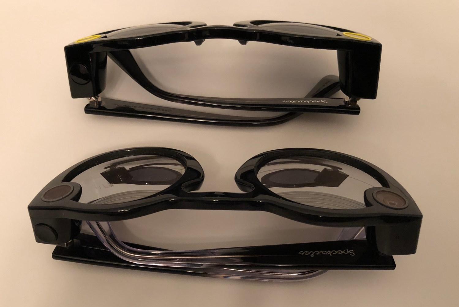 Snapchat Spectacles hardware v1 vs v2