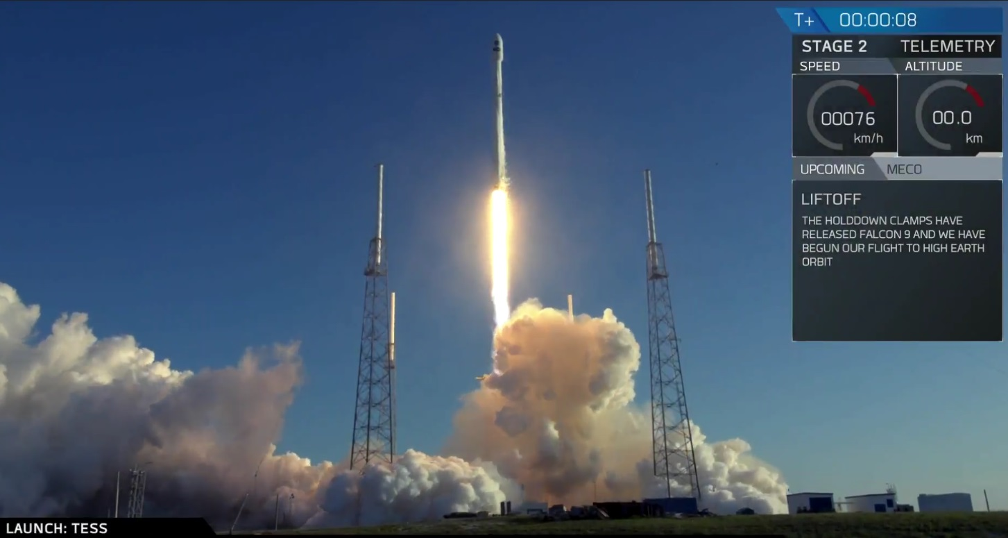 SpaceX Brings NASA's TESS to Space and Successfully Lands its Falcon 9 Rocket