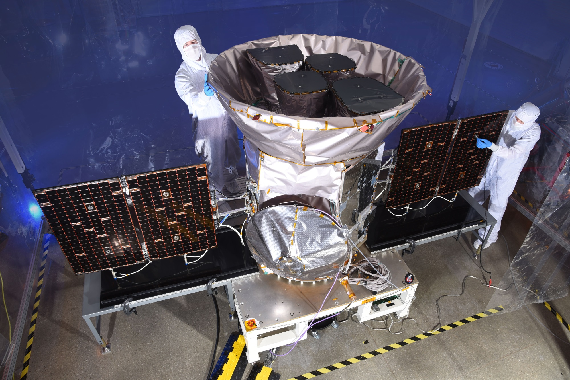 NASA's planet-hunting TESS telescope launches Monday aboard a SpaceX rocket tess with techs 4000