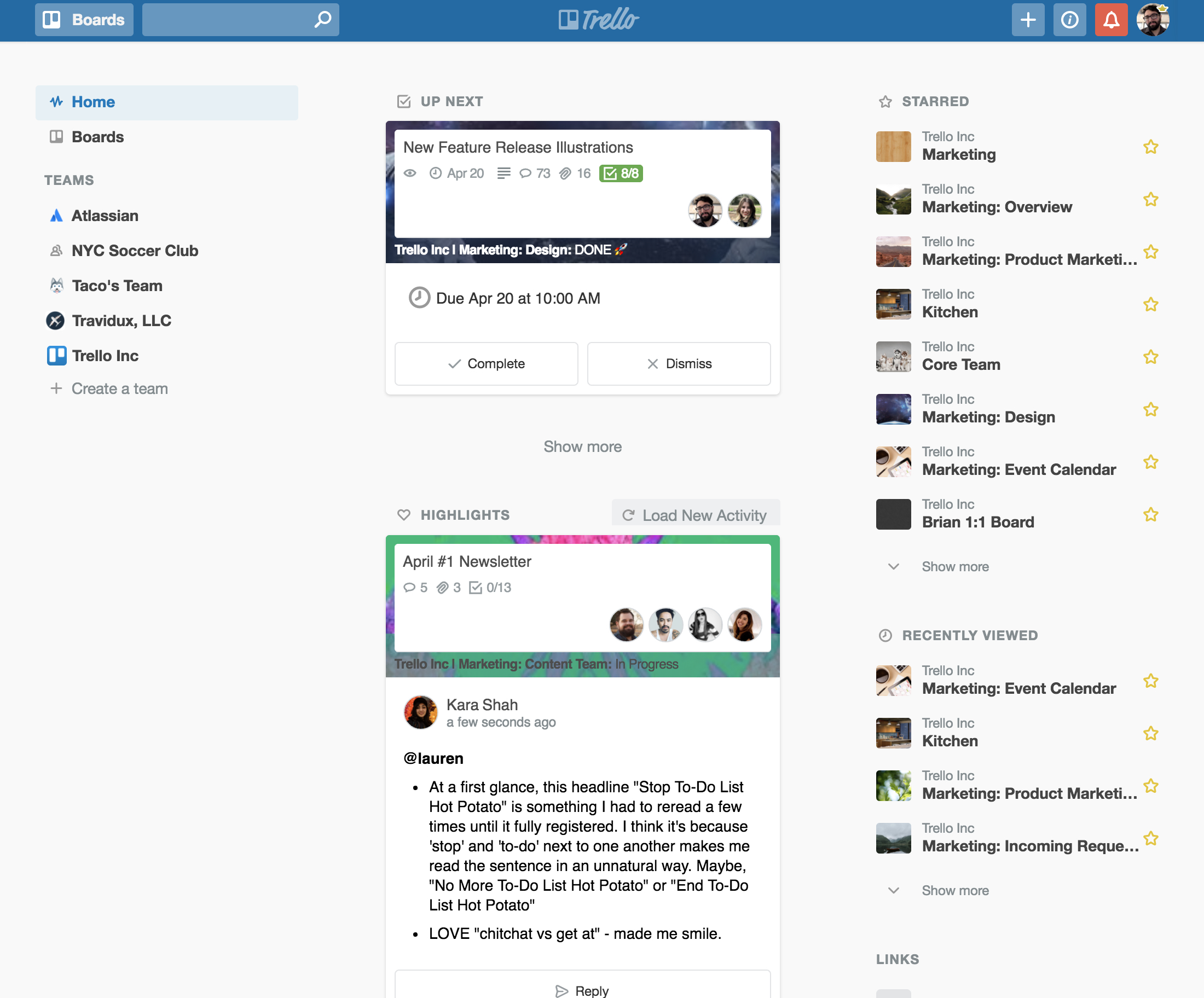 Trello gets a newsfeed and improved notifications