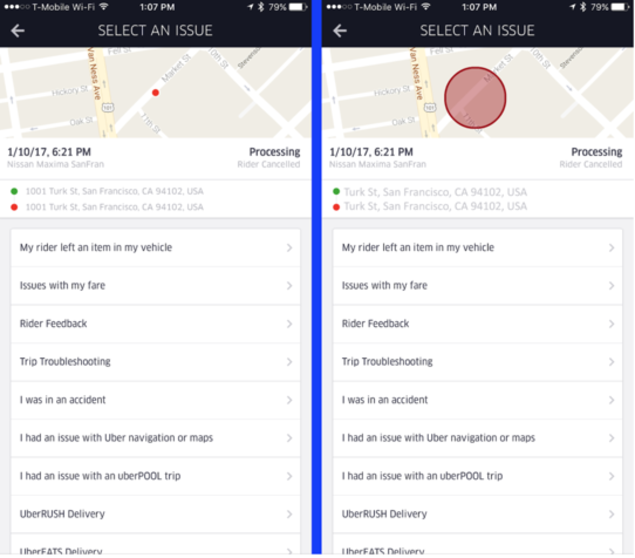 Uber to stop storing precise location pick-ups/drop-offs in driver