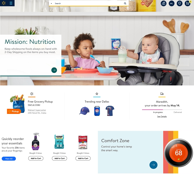 Walmart to launch a more personalized redesigned website in may the most immediately visible change is to the sites look and feel fandeluxe Image collections